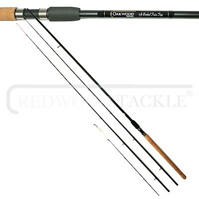 OAKWOOD 11ft Avon Style Twin Tip Barbel Fishing Rod 1.75lb T/C With Cloth Bag  • 33.95£