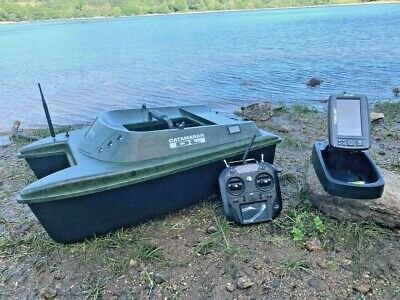 Anatec Catamaran Bait Boat + Toslon TF740 Feature Finder / GPS Auto Drive • 3,044£