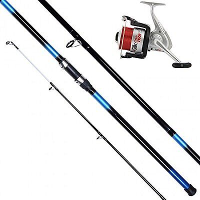 13 Ft 3pc Beachcaster Fishing Rod & Silk 70 Beach/sea Reel + Line Combo  • 34.24£