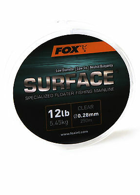 FOX SURFACE FLOATER / FLOATING FISHING LINE - 12lb Or 15lb - 250m • 8.99£