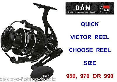 Clearance Dam Quick Victor Reel For Sea Coarse Fishing Mad Cat Catfish Rod Lures • 159£