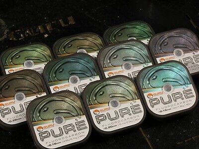 Guru Pure Fluorocarbon Line / Hooklink - All The Breaking Strengths • 6.75£