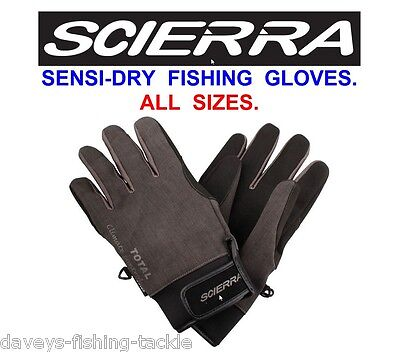 Scierra Sensi Dry Gloves Waterproof & Breathable For Game Trout Fly Rod Fishing • 19.95£
