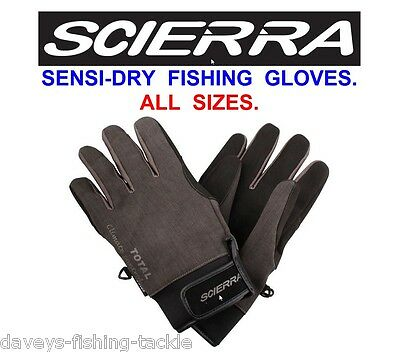 Scierra Sensi Dry Gloves Waterproof & Breathable For Game Trout Fly Rod Fishing • 22.99£
