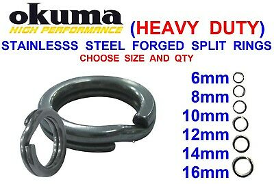 Okuma Heavy Duty Forged Split Rings Stainless Steel  For Plugs Spoons Pirks Rigs • 5.25£