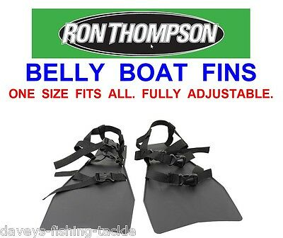 Ron Thompson Belly Boat Fins For Sea Coarse Game Fishing Float Tube Rigs Lures • 28£