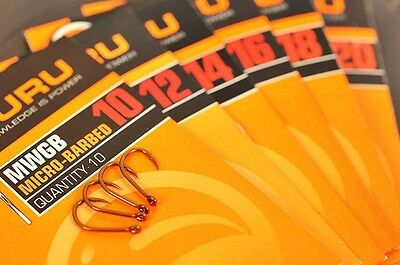 GURU MWGB Barbed Eyed Fishing Hooks • 1.99£