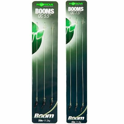 X3 KORDA READY TIED BOOM RIGS - ALL THE SIZES • 3.99£