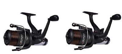 2 X Shakespeare Beta Carp Runner Fishing Reel/BTR & Line Size 60 • 31.63£
