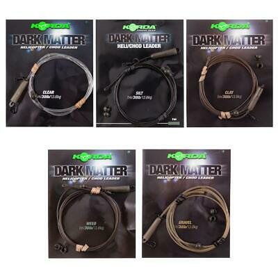 Korda Dark Matter Safe Zone Leaders - All Types Available - 1 Per Pack • 6.25£