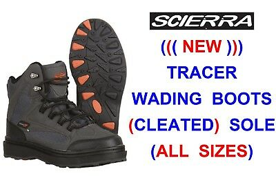New Scierra Tracer Wading Boots Shoes Waders For Trout Fly Rod Reel Line Fishing • 73£