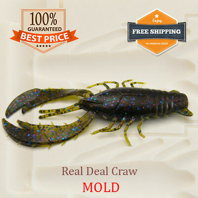 Real Deal Craw Fishing Lure Bait Mold Soft Plastic 97 Mm 3.8  • 26.32£