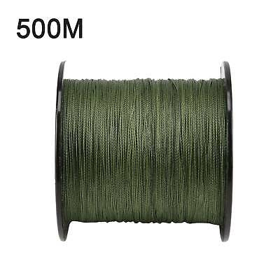 500 M 30 LB 0.26mm Camo Fishing Line Strength PE Braided Green Coarse 4 Strands • 12.29£