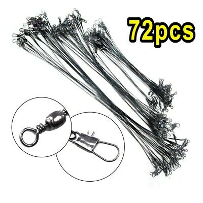 72x Fishing Lures Leader Stainless Wire Trace Set Spinning Pike Line 16/23/31cm • 6.59£