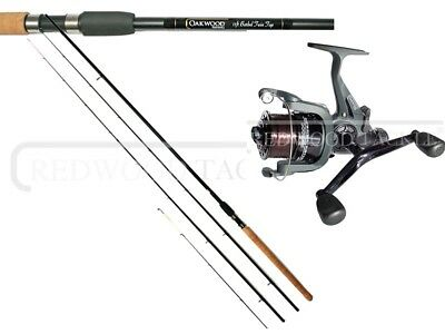 Specialist Barbel Avon Fishing Rod 11ft  & Double Handle Freespool Reel & Line • 44.05£