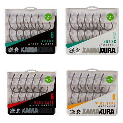 Korda Kamakura Hooks - Krank & Wide Gape - Full Range Available • 6.45£