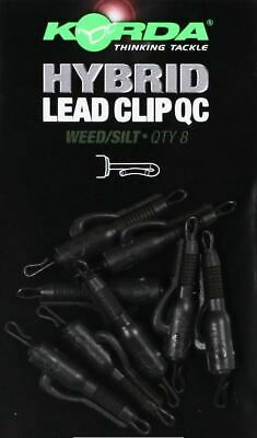 Korda NEW *Quick Change* QC Hybrid Lead Clip - Weed Or Gravel • 5.34£
