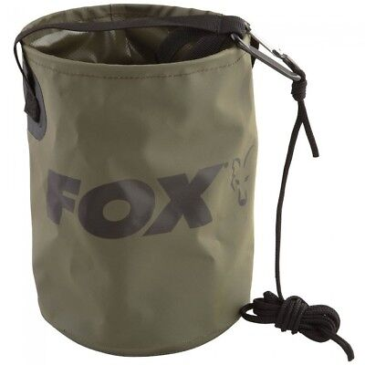 Fox Collapsible Water Bucket W/Rope - CCC040 • 9.99£