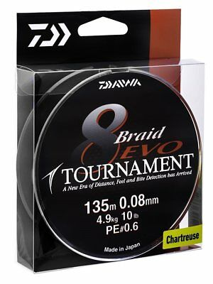 Daiwa Tournament Evo 8 Carrier Braid Line ALL SIZES • 18.99£