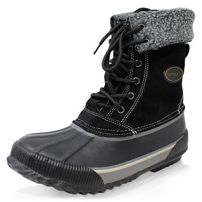 Dirt Boot Thermal Lined Winter Waterproof Leather Snow Boots • 29.95£