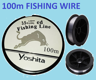New 100m Fishing Line Reel Cord Wire String Clear Strong Quality • 2.89£