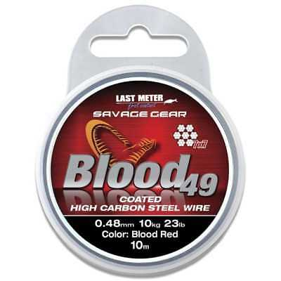 Savage Gear Blood 49 Strand Trace Wire 10m • 7.99£