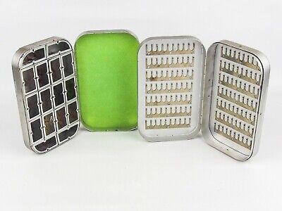 2 X ALLOY TROUT FLY BOXES (1 X WET 1 X DRY) • 37.99£
