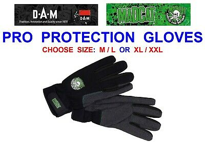 Dam Mad Cat Pro Protection Gloves Coarse Catfish Pike Clonk Teaser Rod Fishing • 19.90£