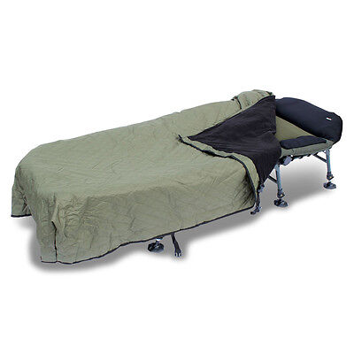 Abode® Chequer Quilted Windout Fleece Bedchair Blanket Carp Fishing Bed Cover • 34.99£