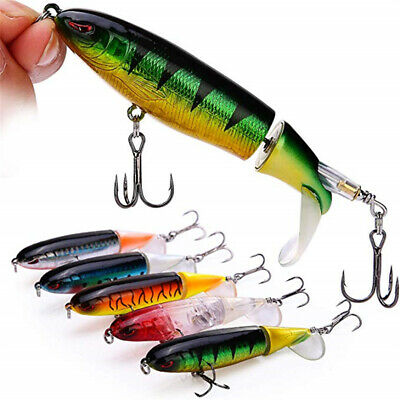 Whopper Plopper Topwater Floating Fishing Lure Rotating Tail Up Water Crankbait • 2.98£