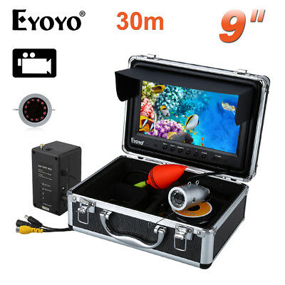 30m 9  LCD Monitor Underwater Video Fishing Camera Infrared Fish Finder DVR 8GB • 163.99£