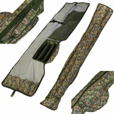 3 + 3 Camo Made Up 12ft Rod And Reel Padded Holdall Bag Carp Fishing Ngt Tackle • 26.86£