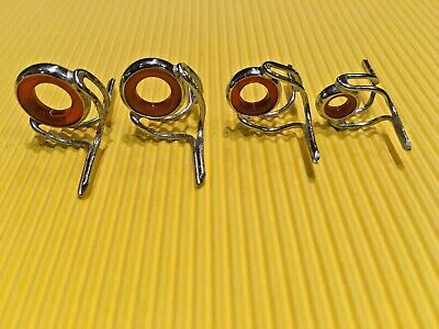 Vintage Fishing Rod Building Tackle Lined Agate Style Rings Eyes Guides New • 2£