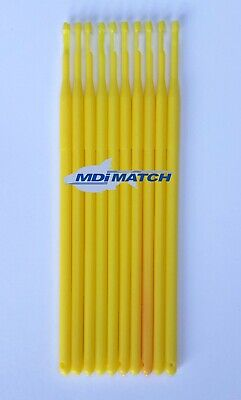 MDI Match Plastic Yellow Fishing Micro Disgorger Length 13cm (5 ) PACK OF 10 • 2.50£