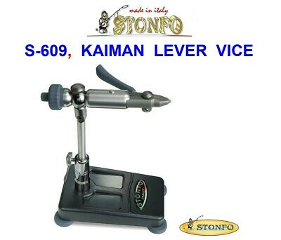 Stonfo S-609 Kaiman Lever Vice For Fly Tying Salmon Trout Dry Wet Tube Flies Etc • 166£