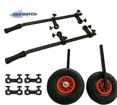 MDI Match Rickshaw Trolley System With Pneumatic Wheels For Fishing Seat Boxes • 59.99£