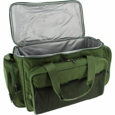 Carryall Holdall Tackle Bag - Insulated Carp Fishing Green Padded Bag With Strap • 20.95£