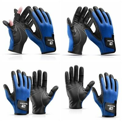 Outdoor Sports Fishing Gloves 2 Cut Fingers Flexible Gloves Cycling Anti-Slip • 10.99£