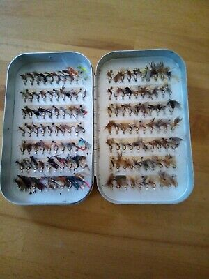 6  X 3.5  Wheatley  Fly Box With 140 Clips + 140 Classic And Modern Trout Flies, • 20£