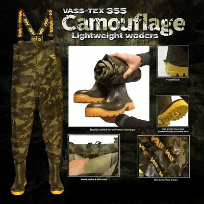 Vass-Tex 355 'Lightweight' Camo Waders *New 2020* - Free Delivery • 99.95£