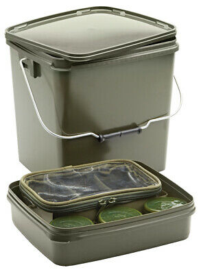 Trakker 13 Ltr Olive Square Container Inc Tray - 216113 • 13.99£