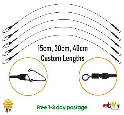 30cm Spinning Wire Traces 12 Inch --- Pike Lure Fishing • 5.50£