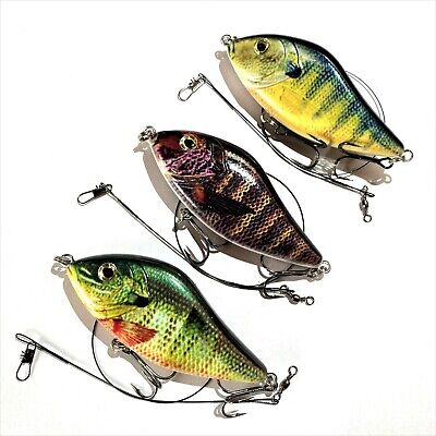PIKE SLIDER LURE Jerk Bait 10cm / 45g / GLIDER Fishing / 3 Colours / UK PERCH • 6.95£
