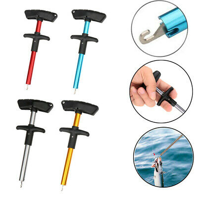 Portable Easy Fish Hook Remover Tackles Extractor T-Handle Fishing Detacher Tool • 4.49£
