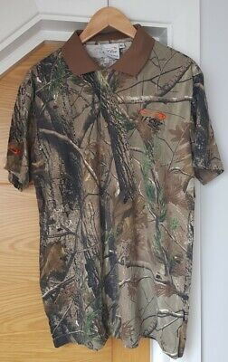 TF Gear Realtree Polo Shirt. Size XL (chest Approx 42-44 Inch) • 5£