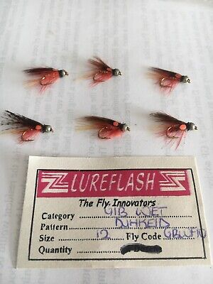6 X New Size 12  DUNKELD WET Trout Flies, Lures, FLY, FISHING TACKLE.  • 4.99£