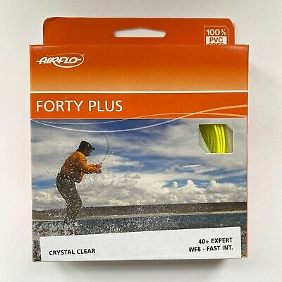 Airflo FORTY PLUS 40+ EXPERT Fast Intermediate Fly Line Crystal Clear • 33.45£