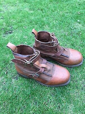 Vintage Leather Fishing Brogues Boots Unused Hardy Farlow's • 100£