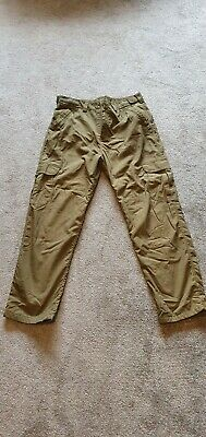 Trakker Thermal Ripstop Fleece Lined Carp Fishing Combat Trousers, Size Large.  • 16£