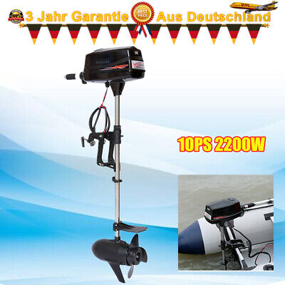 10HP Electric Outboard Motor Brushless Boat Engine Tiller Control 2200W New SALE • 755£